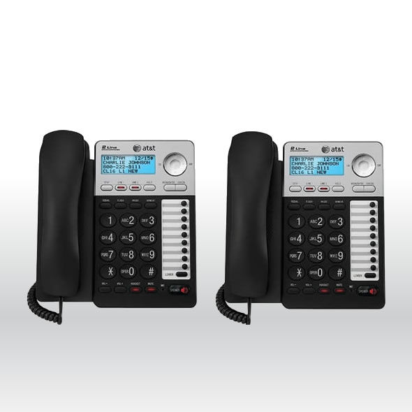 2 line office phone with answering machine