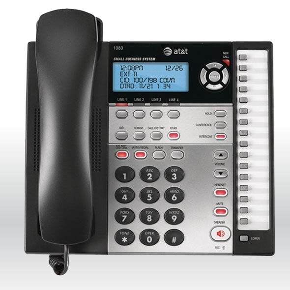 At Amp T 1080 4 Line Office Business Intercom Phone