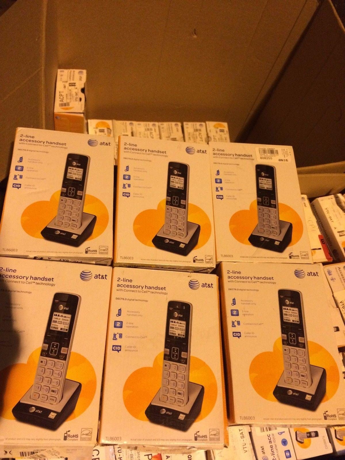 5 x AT/&T TL86003 2 Line Connect-To-Cell Caller ID//Waiting ID Handset for TL86103