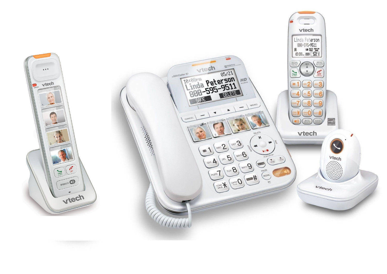 Vtech Careline Plus Sn6197 Phone System With Sn6307