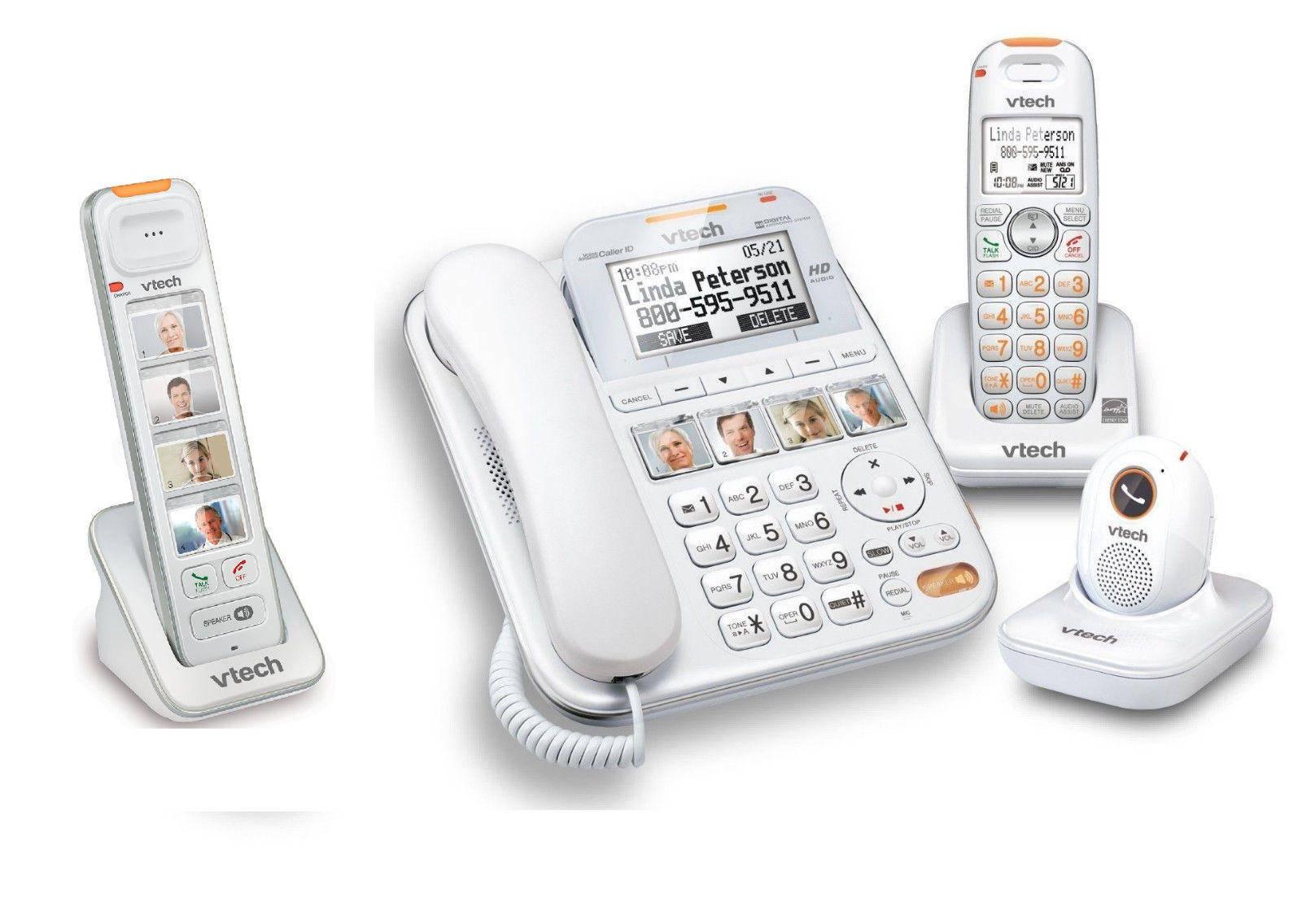 b70a38e1da9 Vtech Careline Plus SN6197 Phone System With SN6307 ...